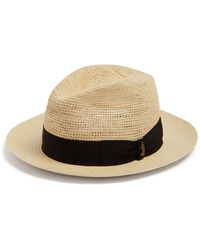 Borsalino - Panama Woven And Crochet Straw Hat - Lyst