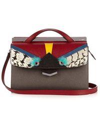 Fendi - Demi Jour Bag Bugs Small Leather Crossbody Bag - Lyst