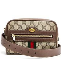d675f04833d1 Gucci Ophidia Gg Supreme Belt Bag in Brown - Save 11% - Lyst