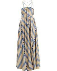 Dodo Bar Or - Pedro Tassel-embellished Striped Cotton Dress - Lyst