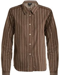 A.P.C. - Mike Cotton And Silk Blend Shirt - Lyst