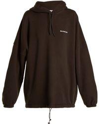 Balenciaga - Oversized Logo Embroidered Sweatshirt - Lyst