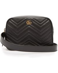 Gucci - Gg Marmont Quilted Leather Belt Bag - Lyst