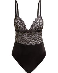 Coco De Mer - X V&a Gilded Arch Silk Blend Bodysuit - Lyst