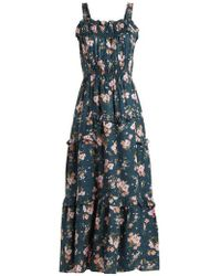 Rebecca Taylor - Emilia Floral-print Silk Dress - Lyst