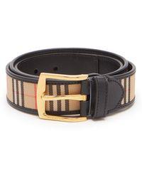 01eac78f6b60 Lyst - Burberry Belts - Men s Burberry Leather Belts