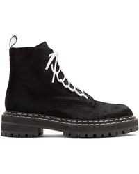 Proenza Schouler - Tread-sole Calf-hair Ankle Boots - Lyst