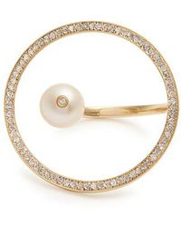Anissa Kermiche - Diamond, Pearl & Yellow-gold Ring - Lyst