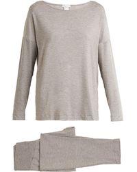 Hanro | Natural Elegance Jersey Pyjama Set | Lyst