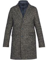 Herno - Scott Tweed Overcoat - Lyst