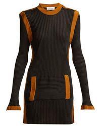 Wales Bonner - Ribbed-knit Kangaroo-pocket Dress - Lyst