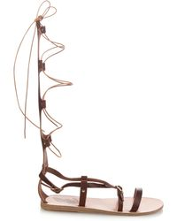 Ancient Greek Sandals - Sofia High Gladiator Lace-up Leather Sandals - Lyst