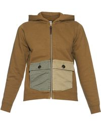 Visvim | Contrast-pockets Hooded Sweatshirt | Lyst