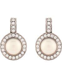 Balenciaga - Faux-pearl And Crystal Earrings - Lyst