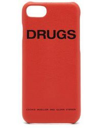Raf Simons - - Leather Iphone® 7/8 Case - Womens - Orange - Lyst