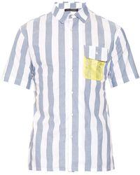 Longjourney   Short-sleeved Cotton Shirt   Lyst