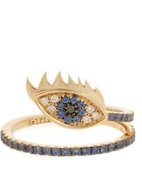 Delfina Delettrez - Diamond, Sapphire & Yellow-gold Ring - Lyst