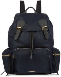 Burberry Prorsum - Leather-trimmed Nylon Backpack - Lyst