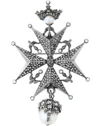 Alexander McQueen - Crystal-embellished Star Brooch - Lyst
