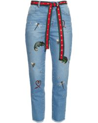 MUVEIL - Embellished Boyfriend Jeans - Lyst