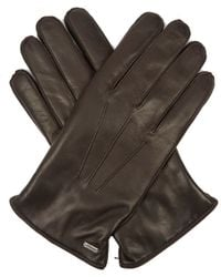 Dolce & Gabbana - Cashmere-lined Leather Gloves - Lyst