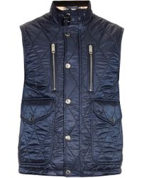 Burberry Brit - Diamond-quilted Gilet - Lyst