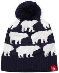 Perfect Moment - Navy Bear Bobble Hat - Lyst