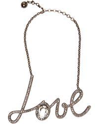 Lanvin - Love Crystal-embellished Necklace - Lyst