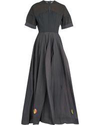 Natasha Zinko - Short-sleeved Silk-chiffon Gown - Lyst