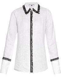 Jupe by Jackie - Hempel Fringe-trimmed Linen Shirt - Lyst