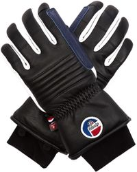 Fusalp - Askell Fleece-lined Leather Gloves - Lyst