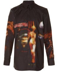 Givenchy - Heavy Metal-print Distressed Shirt - Lyst