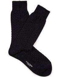 Blue Blue Japan | Geometric Ribbed-knit Cotton-blend Socks | Lyst