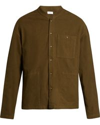 Fanmail - Mandarin-collar Cotton-flannel Shirt - Lyst