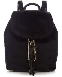 Diane von Furstenberg - Love Power Calf Hair And Leather Backpack - Lyst