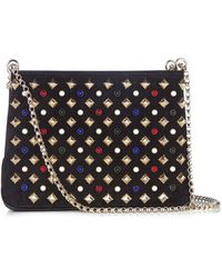 Christian Louboutin - Triloubi Embellished Leather Shoulder Bag - Lyst
