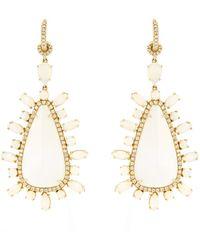 NSR Nina Runsdorf - Diamond, Opal & Yellow-gold Earrings - Lyst