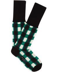 Marni - Windowpane-checked Ankle Socks - Lyst
