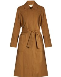 Trademark - Tie-Waist Coated-Cotton Trench Coat - Lyst