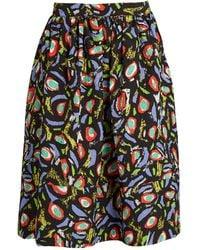 Duro Olowu - Abstract Bird-print Cloqué Skirt - Lyst