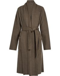 Denis Colomb - Raw-Edge Cashmere And Camel-Blend Coat - Lyst