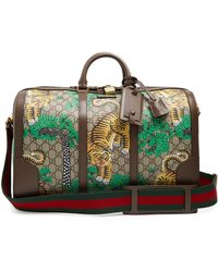 Gucci - Bengal Gg Supreme Leather Holdall - Lyst