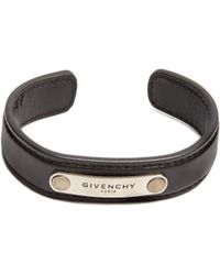 Givenchy - Leather Cuff - Lyst