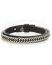Givenchy - Metal-chain Leather Bracelet - Lyst