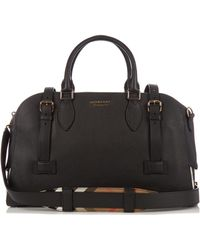 Burberry - Bankston Grained-leather Holdall - Lyst