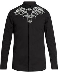Givenchy - Contemporary-fit Tattoo-print Single-cuff Shirt - Lyst