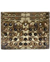 Christian Louboutin - Kios Snakeskin-print Leather Cardholder - Lyst