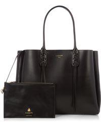 Lanvin - Nela Leather Shopper - Lyst