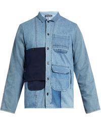 Longjourney   Utility Button-patch Cotton-denim Shirt   Lyst