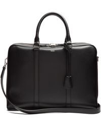 Tod's - Logo-print Leather Briefcase - Lyst